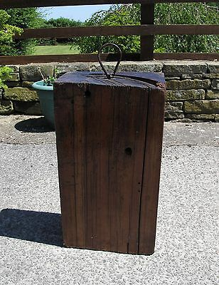 """Reclaimed decorative wood counter weight block - 20"""" x 11"""" x 6"""" (heavy)"""