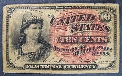 Ten Cent Fractional Currency Fourth Issue Fast Free Shipping