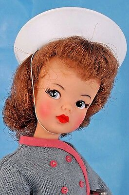 Vintage IDEAL TAMMY Doll in Cute 2 PIECE OUTFIT w Accessories, Original Jumpsuit