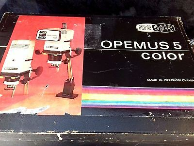 Meopta Opemus 5 colour boxed Enlarger photograpic 'wet film'.  fully working