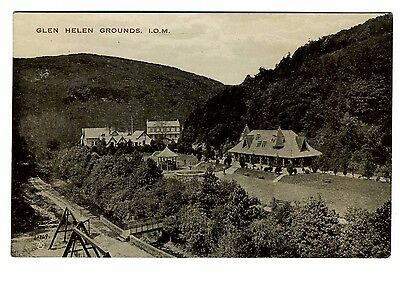 Isle of Man postcard, Glen Helen grounds.