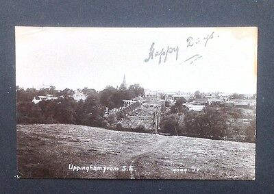 Uppingham Leicestershire real photographic postcard