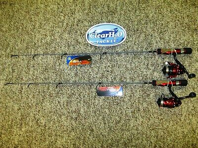 """2Pk No 8 Tackle Co. Infrared Ice Combo 25"""" Light W/ Quick Tip Spring Bobber"""