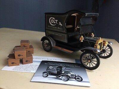 Franklin Mint 1913 FORD Model T Colt Delivery Truck 1:16 Scale Patent Fire Arms