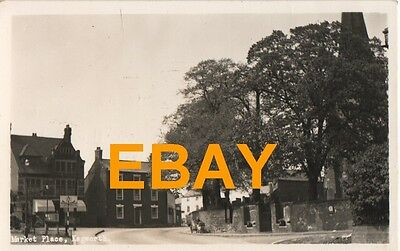 Old Black & White Real Photo Postcard Of The Market Place At Kegworth.c1950's