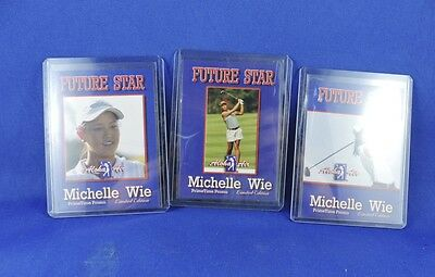Five (5) Vintage Michelle Wie Rookie Trading Cards