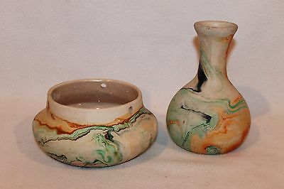 PAIR OF NEMADJI Art Pottery VASES - VGC