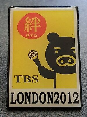 2012 London Olympic TBS Japan Japanese Media pin