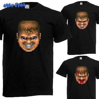 Doom Guy Face / Head - Retro Game T-Shirt - Kult - Gallery 2/5
