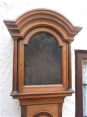 EARLY OAK c1750   LONGCASE CLOCK case  12x126+1/2 inch dial