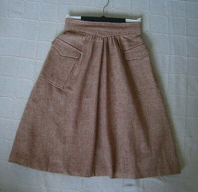 Vintage Ladybird Skirt - Age 13 - 158 cm -Cinnamon Fleck Tweed-  Wool Mix - New