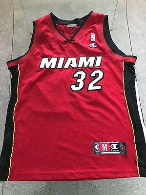 Champion Miami Heat Shaquille O'Neal Basketball Jersey Size M