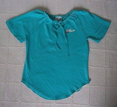 Vintage Ladybird Gypsy Top - Age 6 Years Approx- Jade Green - Cotton - New
