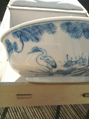Antique 19Th Century Chinese Blue And White Bowl