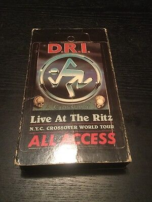 D.R.I Live At The Ritz All Access Crossover - HTF Thrash Metal Punk Rare VHS