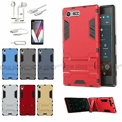 6 x Accessory Kickstand Case Charger Screen Protector Earphone For Sony Xperia