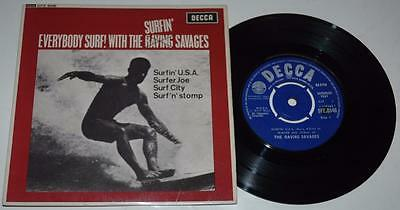 The Raving Savages, Everybody Surf Ep, 1963 Decca 8546, Rare, Surf, Beat, Ex