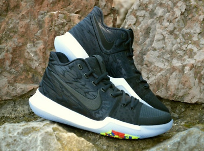 """Basketball Shoes Nike KYRIE 3 Black Multicolor """"Time to Shine"""" Irving 852395-009"""