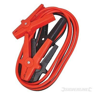 Heavy Duty 12ft/3.6m Battery Booster 600 Amp Cable Jump Leads Petrol Diesel