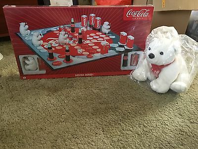 Coca Cola Board Game And Bear Sealed