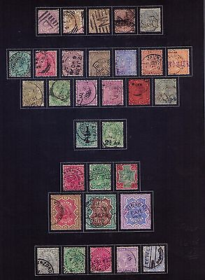 India and East India QV Stamps,SC#33-56 and SC#31-35Used,Cat.$161