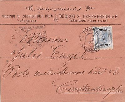 Austria Levant 1905 Single Franking Cover Trabezonde Armenian Cover Head Bedros