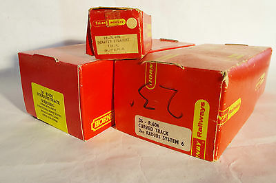 Triang Hornby and Hornby Track boxes, two lids and one complete box