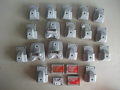 Nintendo 64 N64 Rumble Pak, Transfer Pak, Memory Card Lot of 21