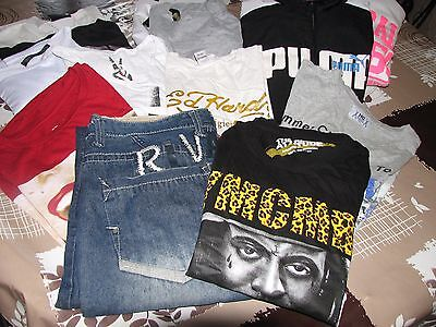 Lot 13 Vetements Taille Xl Ed Hardy--Us Marshall...