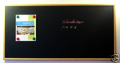 "Handsome 48"" x 24"" Framed Magnetic Black Chalk Board, Medium Frame Blackboard"