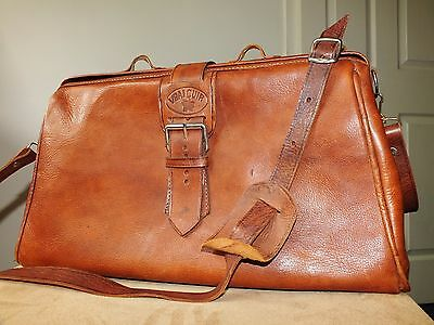 Vrai Cuir Morroccan leather vintage shoulder bag/weekend