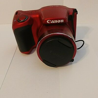 Canon PowerShot SX400 IS 16.0 MP Digital Camera - Red (Kit w/ 4.3-129 mm Lens)