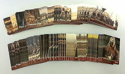 LOT OF 275 TOPPS TRADING CARDS FROM THE LORD OF THE RINGS THE TWO TOWERS c2002