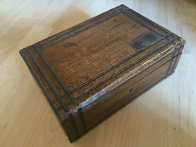 Lovely Vintage Wooden Box With Lock No Key