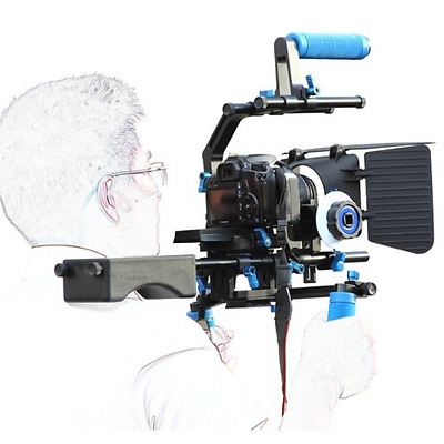 eimo Pro DSLR Shoulder Rig Set Support Rig + Follow Focus + Matte Box + Adjust P