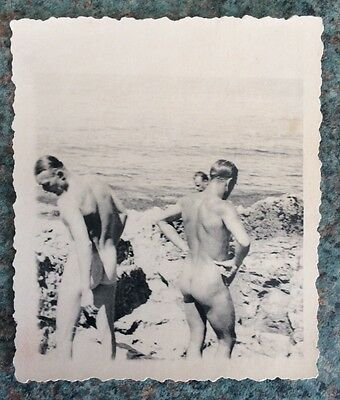 Original WW2 Photo Of Nude Naked German Soldiers 1942 Rare