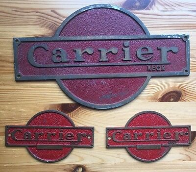 Carrier Brass Name Plates X3.