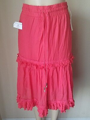 NWT Lapis Women's Coral Full Peasant Skirt M -2nd 15% Off