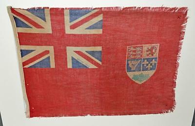 Antique Silk Canadian Red Ensign Flag - 1922 Flag Ship .?? - Merchant Navy.