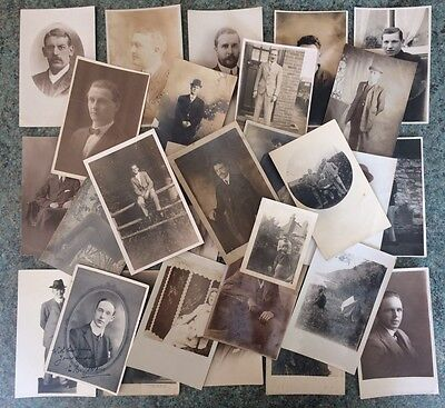 Collecting Of Vintage RPPC Of Men Male Portrait Gay Int / Social History