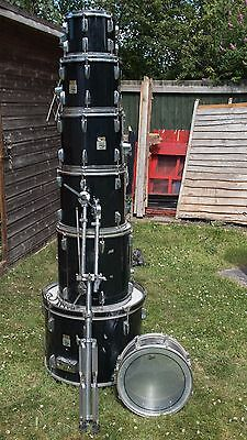 Black YAMAHA Drum Kit shell pack LOADS OF TOMS