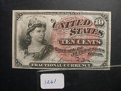 Fractional Currency  10 C  F1261