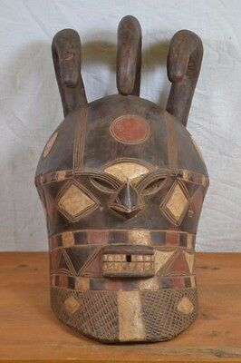 African tribal Art mask,  tetela   from DRC Congo.