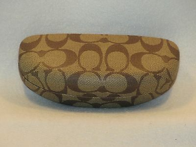 Coach Clam Shell Eye Glasses Case (Brown)