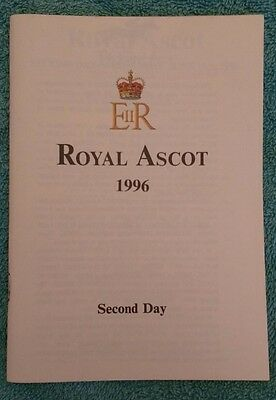 Royal Ascot racecard, second day Wednesday 19 June 1996