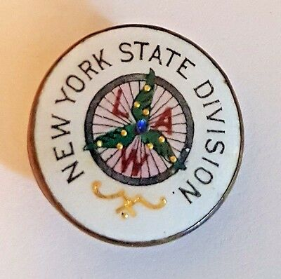 Vintage Stud Button – LEAGUE OF AMERICAN WHEELMEN L.A.W. NEW YORK STATE DIVISION