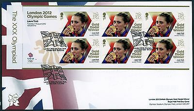 Fdc 2012 Laura Trott Gold Medal Gold Medal  First Day Cover London Olympic Games