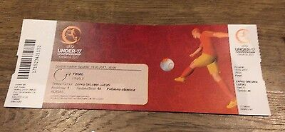 Uefa Under-17 Championships 2017 Final- Spain V England- Ticket Stub