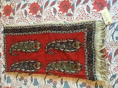 Antique Paisley British Shawl 1800s Victorian Wool Very Large Floral Sotheby's