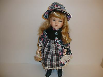 Porcelain Doll Knightsbridge Collection Jean On Stand